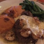 Shrimp and parmesan steak