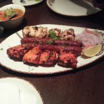 Grilled Platter and Chicken Curry