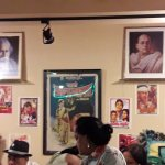 Display of Indian legends on the wall of the restaurant