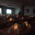 Sala da pranzo per la Cena della Notte Rosa