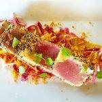 Sesame encrusted albacore tuna