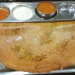 Onion dosa from the outside