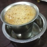 Lovely tumbler of South Indian filter coffee