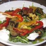Entrée, légumes grillés