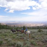 View from horseback overlooking the valley