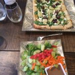 Tuscan flatbread and salad