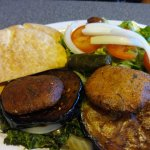 Vegetable Combo Plate with salad