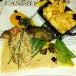 Pavé de veau sauce foie gras