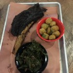 Saturday Beef Ribs with Greens and Fried Okra