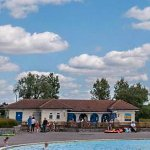 Hamworthy Park Cafe (taken from the far side of the paddling pool)
