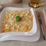 Vegetable risotto of the day's menu