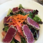 Ahi Tuna Salad, looks great but dressing overpowered & ruined salad :(