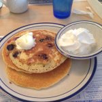 Blueberry pancakes with whip cream :)