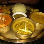 Cottage Cheese Dal Bhat