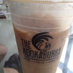 """Honey Badger"" Iced Coffee...it came highly recommended and now I know why! Yum!"