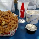 Clam strips and chowder