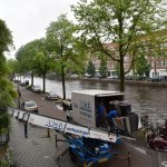 View at the canal ( piano transported to neghboring apartment ;)
