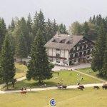 Vista dell'albergo dall'alto