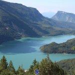 Vista da 200 mt dall'albergo, lago di Molveno