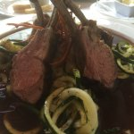Rack of lamb with zucchini
