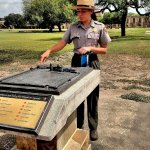 A US Park Ranger provides and excellent interpretive history of Mission San Jose