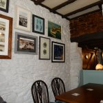 Inside one of the two cosy dining areas