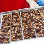 George Washington Bars. Fresh roasted pecans and dried cherries. Fabulous!