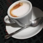 Bar Duelle's caffè macchiato with brown sugar is the best way to start the day in Spoleto.