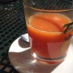 amazing fresh squeezed orange juice.