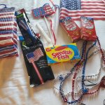 The 4th of July package given to my daughter to celebrate. missing is the bottle of bubbles