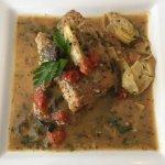 Pane e Vino Sea Bass with Artichokes and Mushrooms