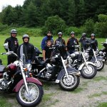 supers motards de passage au gîte