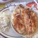 Broiled Seafood combo. Choice of two...haddock, gulf shrimp or jumbo sea scallops. $18.95