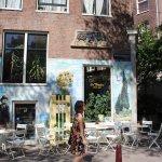Van Gogh mural out the front of La Tertulia