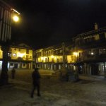 夜のPlaza Mayor de La Alberca