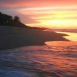 Natura cabana at sunset