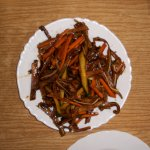 Fragrant Pig Ears (smocked & pickled) are excellent with beer