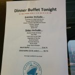 M/V Columbia from Bellingham to Ketchikan, July 2016 - Special Buffet Menu
