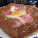 Buckwheat crepe, can't remember the meat