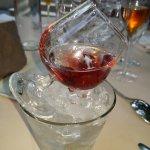 Vodka griottes, jolie présentation!