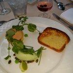 Voici le menu à 40 € ce jour là, foie gras
