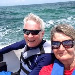 Fun with our own speed boat!