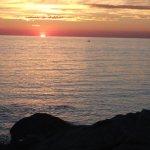 coucher du soleil en balade sur la cornche