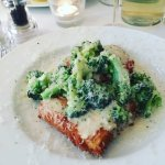 Polenta with blue cheese and broccoli