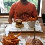 'make your own burger' and sweet potato fries!