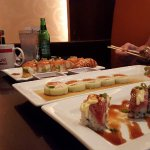 From L to R, Lobster Roll, Naruto, and Big Boss Roll.  We also had the Dynamite Roll.  All delic