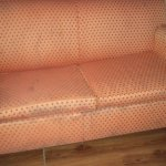 There was NO way I was sitting on this couch. There were 3 of these same couches all stained