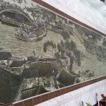 Mosaic replicating a famous Chinese painting, at the Pocelain muzium.