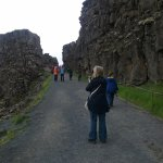 Gap in tectonic plates