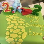 Fantastic cake done for my grand daughters 2nd birthday